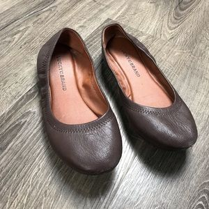 Lucky Brand emmie ballet flats brown leather